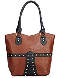 Bagris Latest Brown PU Leather Hand Messenger Bag For Women & Girls GE01001161