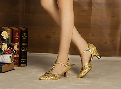 Minitoo, Scarpe da ballo donna Gold-6cm Heel