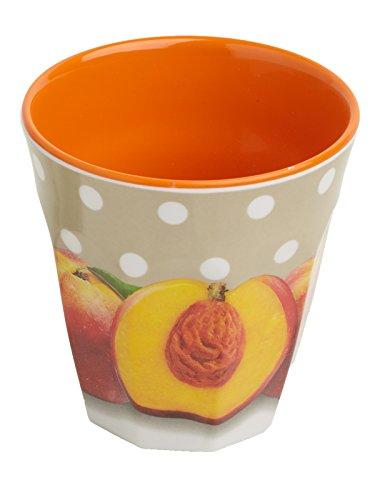 Splash Gobelet haut évasé Motifs pois et nectarines Orange 8,5 cm