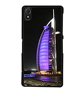 printtech Burj Al Arab Dubai Building Back Case Cover for Sony Xperia Z3 , Sony Xperia Z3 D6653 D6603