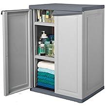 Keter 62912-shelf plástico multiusos armario, 65x 45x 91cm–Color Gris