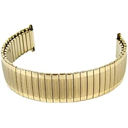 Eulit Flex Band Replacement Strap Stainless Steel Band IP Gebgold 16mm-20mm 715115