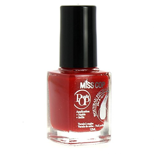 Miss Cop Vernis à Ongles Pops Nails Collection Hiver - Coquelicot