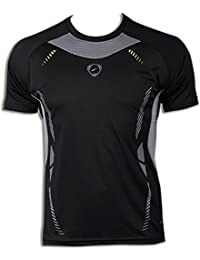 Jeansian Hombres Deportes Wicking Quick Dry Respirable Tops T-shirt Sport Slim Tops LSL133
