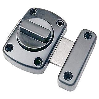 Howhome Bolt-Riegel-Tor-Riegel für Sicherheitsverriegelung, schwarz beschichten