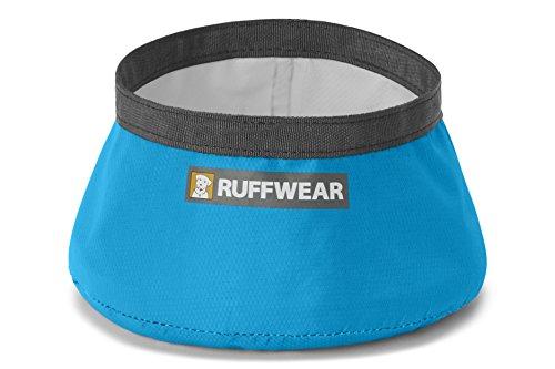 Ruffwear Ultraleichter, tragbarer Stoff-Hundenapf, Einheitsgröße, Fassungsvermögen: 1L, Blau (Blue Dusk), Trail Runner Bowl, 2077-407