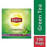 Lipton Tulsi Natura Green Tea Bags, 100 Pieces