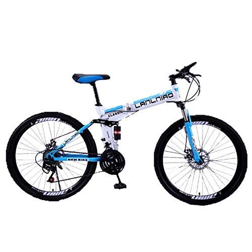 "WZB 26\""MTB Folding Mountainbike, Dual Suspension Bike, 27-Gang Shimano Gears Mountainbike, 7,27Speed"