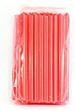 Moira 100 pcs High Quality Straws - Ideal for drinking cocktails, mock-tails, juices, milkshakes and Craft work (Redjumbo)