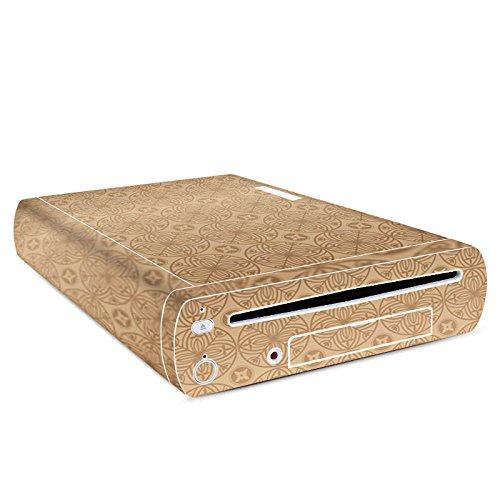 Manor-konsole (Nintendo Wii U Konsole Case Skin Sticker aus Vinyl-Folie Aufkleber Blume Flower Muster)