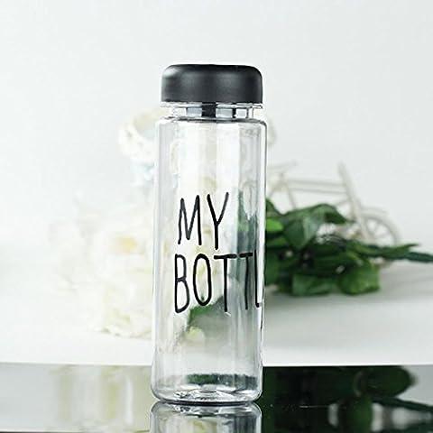 1x Fashion portatile chiara My Bottle Succo di Frutta in plastica Sport Acqua Tazza 500ml