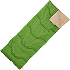QUECHUA 20° CAMPING SLEEPING BAG - 1 SEASON, GREEN