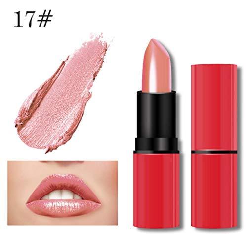 Jaminy Liquid Lip Gloss Lippenstift Matte Wasserdicht Langlebig Long Lasting Moisturizing Lippenstift Lip Gloss Fashionable Colors Long Lasting Lipstick (F)