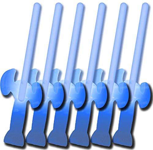 6 Knicklichter Schwerter BLAU (5 kaufen + 1 Gratis!)