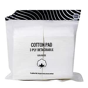MINISO 3 Ply Detachable Cotton Pad for Makeup Remove, Facial Care & Nail Polish