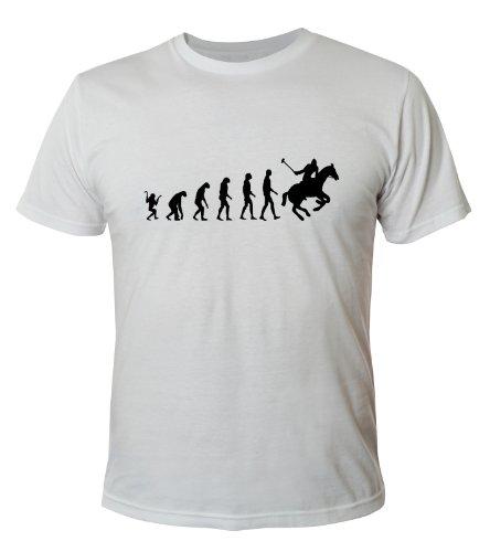 Mister Merchandise Cooles Fun T-Shirt Polo Evolution Weiß