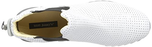 1608 Wyanet, Mixte adulte Chelsea Boots Blanc (Blanco)