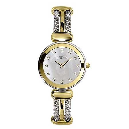 Michel Herbelin Unisex Erwachsene Analog Uhr mit Edelstahl Armband 17125/BT59
