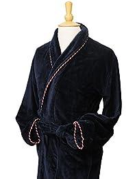 Bown of London - Peignoir en velours - coton 450g/m2, long - Homme
