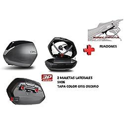 KIT SHAD fijacion + maletas laterales tapa negro metal SH36 BMW R1200R (15-17)