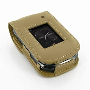 PDair S41 Tan Leather Case for BlackBerry Style 9670