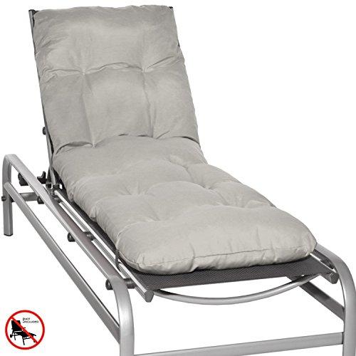 Beautissu Auflage für Garten-Liege Flair RL 190x60x8cm Sitz-Polster für Sonnenliege...