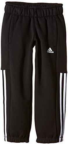 Adidas, Pantaloni Bambino Essentials Mid, Nero (Black/White), 128 cm Nero (Black/White)