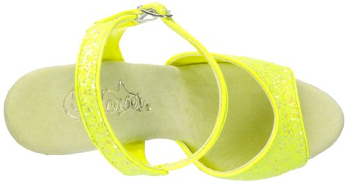 Pleaser Delight-609uvg, Sandales Bout Ouvert Femme Neon Yellow Gltr/Yellow