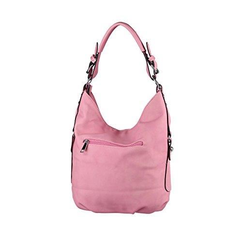 Obc Ladies Bag Shopper Hobo Bag Tote Bag Shoulder Bag Handbag Crossover Crossbag Donne Borsa Da Viaggio Borsa Da Viaggio Buoy Bag (blu Scuro 35x29x10 Cm) Rosa