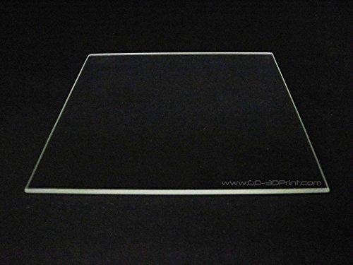 310mm x 310mm Borosil Glas Teller/Bett W/flach poliert Rand für 3D Drucker