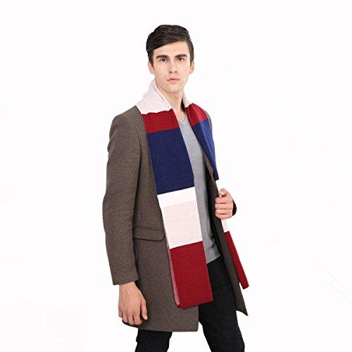 Winterschals Für Männer Warmen Schal England Stil,A