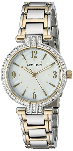 Armitron Women's 75/5377MPTT Swarovski Crystal Accented Two-Tone Bracelet Watch
