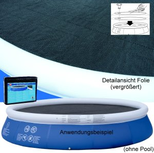 Wehncke Solar-Abdeckplane für runde Pools 240cm