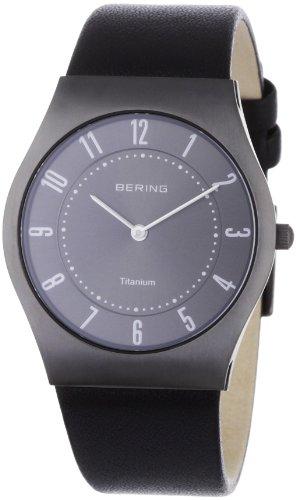 Bering Time - 11935-404 - Montre Homme - Quartz Analogique - Bracelet Cuir Noir