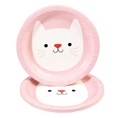 Rex International Kinder Pappteller mit Motiv Katze Cookie, 8 Stück (Cookie Pappteller)