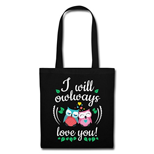 Love Owlways Love You Love You Say Bag Nero