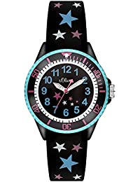s.Oliver Mädchen-Armbanduhr Analog Quarz Silikon SO-3178-PQ
