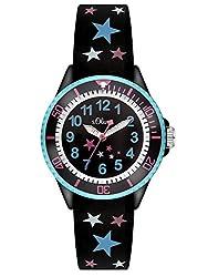 S.Oliver Mädchen Analog Quarz Armbanduhr SO-3178-PQ