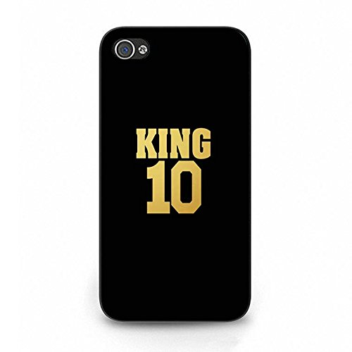Fashion Camouflage Design King Queen Couple Phone Case Cover Solid Skin Protetive Shell for Iphone 4/4s King Queen Lovers Classic Color097d