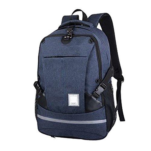 Wsnh888 borsa da scuola usb ricarica per il tempo libero zaino per computer zaino da uomo zaino multifunzionale zaino da basket per uomo,blue