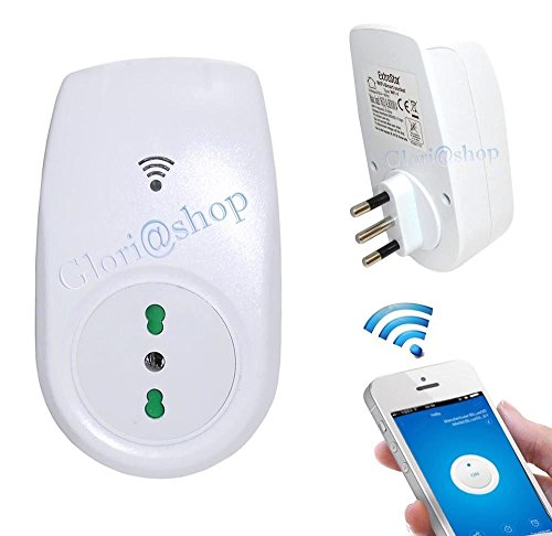 Presa spina smart wifi interruttore comandato da smartphone distanza ios android