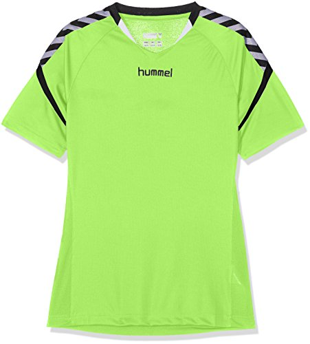 hummel Kinder AUTH. Charge Short Sleeve Poly Jersey Trikot, Green Gecko, 104 -