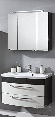 Bad Möbel Spiegelschrank Roma inkl. Waschplatz