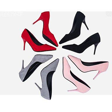 WSX&PLM Da donna-Tacchi-Matrimonio Formale Casual-Altro-A stiletto-PU (Poliuretano)-Nero Rosa Rosso Grigio chiaro pink