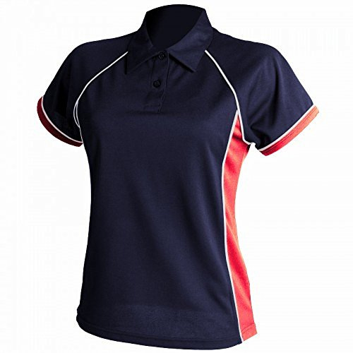 Finden & Hales - Polo Sportiva Coolplus® - Donna Rosso/Bianco