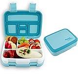 LiCocina® Bento Box I Kinder Lunchbox I Brotdose 5 Unterteilungen (Fächer) I Spülmaschinengeeignet I Mikrowellengeeignet I BPA Schadstofffrei I Geruchs- und Geschmacksneutral (Blau)