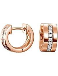 Esprit Jewels Damen-Creolen 925 Sterling Silber Pure Pave rose ESCO91734C000