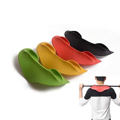 DMAR 32cm*7cm Negro/Rojo Cojín de Barbell de TPE, Almohadilla Protect