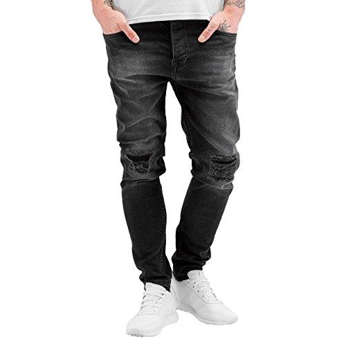 Bangastic Herren Jeans / Slim Fit Jeans K125 Slim Fit Grau