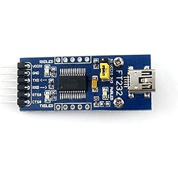 PIXNOR FT232RL USB vers série TTL 5V niveau 3.3V Module adaptateur USB vers RS232 Télécharger Module pour Arduino